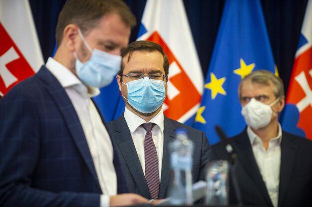 Igor Matovič, Marek Krajčí a Robert Mistrík.