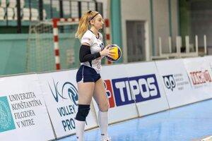 Bibiana Peťková v drese Volley project UKF Nitra.