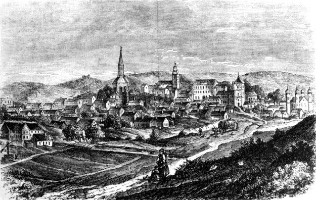 Lučenec v druhej polovici 19 storočia po obnovení.