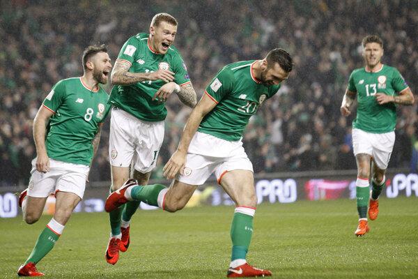 Futbalisti Írska - ilustračná fotografia.