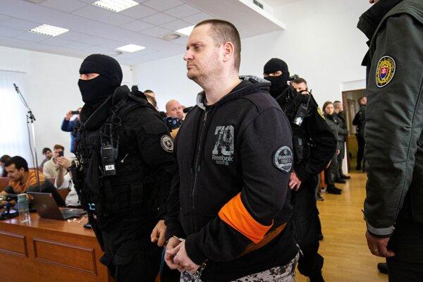 Miroslav Marček na hlavnom pojednávaní v prípade obžaloby za vraždu Jána Kuciaka, Martiny Kušnírovej a Petra Molnára začiatkom roka 2020.