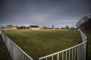 Futbalové ihrisko vo Veľkej Mači.