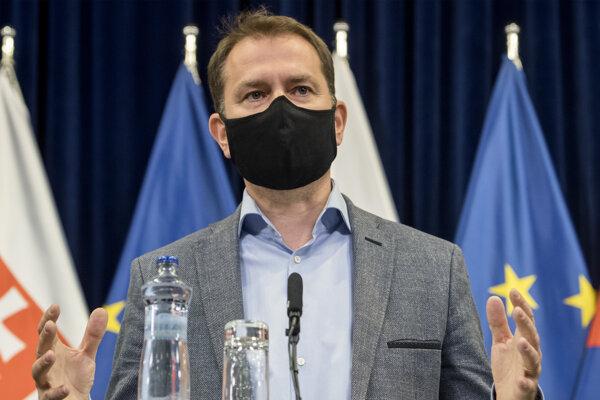 Igor Matovič na tlačovke po konzíliu s odborníkmi.