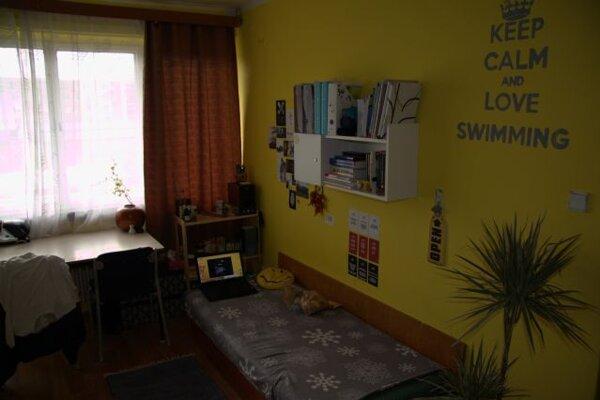 Jedna z izieb internátu.