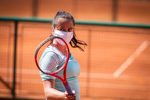 Viktória Kužmová na tréningu.