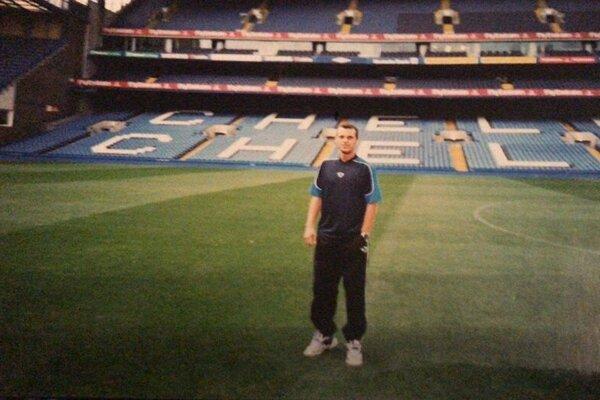 Marián Klago na štadióne Chelsea Londýn, kde MŠK Žilina odohrala zápas skupinovej fázy Ligy majstrov.
