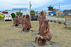 Kukučín vyvražďovanie pôvodného obyvateľstva nezaznamenal. Fotografia je z Múzea povojnovej kultúry v čílskom meste Porvenir.