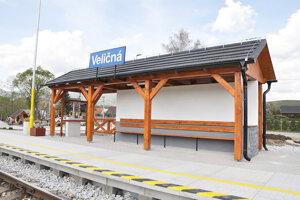 Nová vlaková zastávka vo Veličnej.