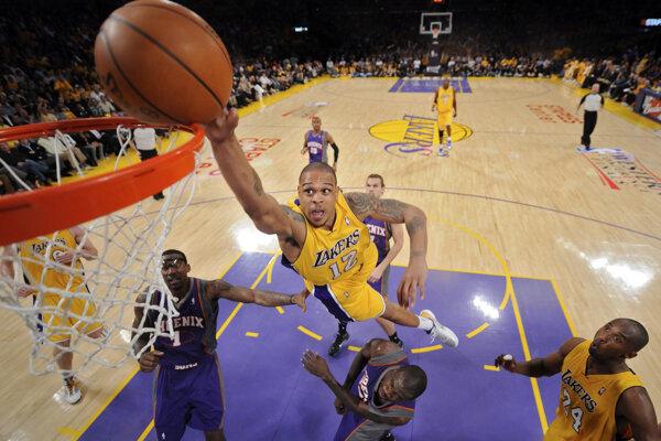 Na archívnej snímke zo 17. mája 2010 basketbalista Los Angeles Lakers Shannon Brown.