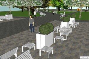 Takto budú vyzerať lavičky.