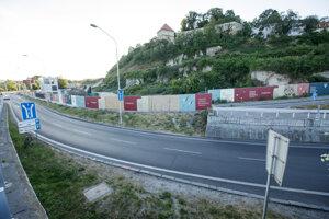 Stavenisko novej lokality - Vydrica, v bratislavskom Podhradí počas prvej etapy výstavby.