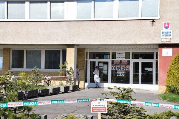 Internát Strednej pedagogickej školy v Turčianskych Tepliciach.