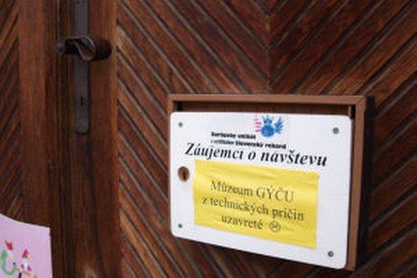 Múzeum je od novembra zatvorené.