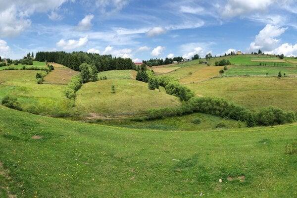 Krajina pri obci Marisel v rumunských Karpatoch.