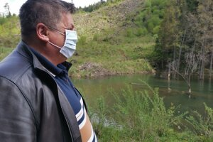 Zvyšky niekdajšieho jazera v Kolačkovej doline.