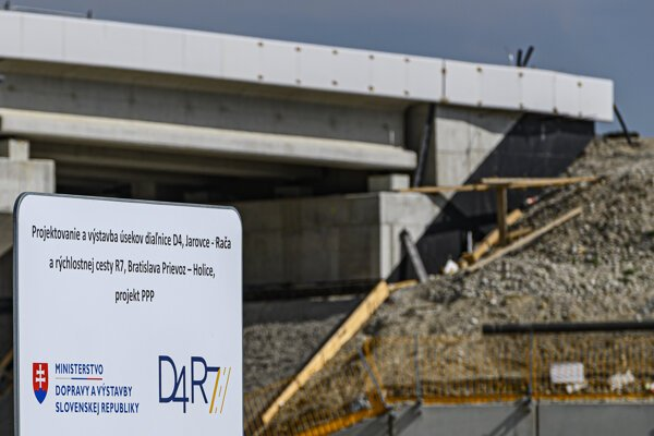 Snímka z výstavby diaľnice D4.