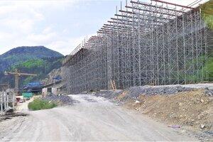 Situácia na stavbe v apríli 2020.