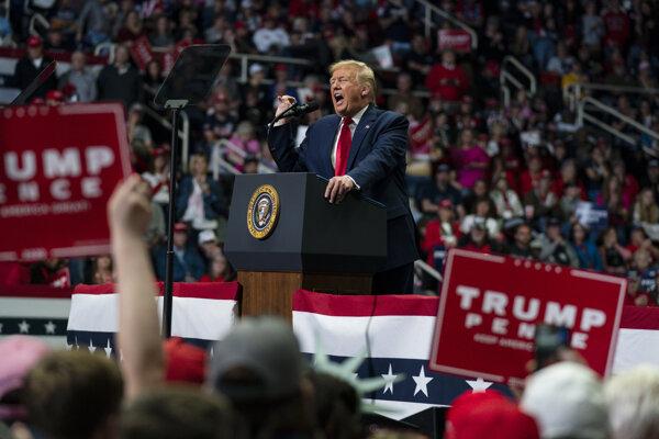 Americký prezident Donald Trump počas kampane.