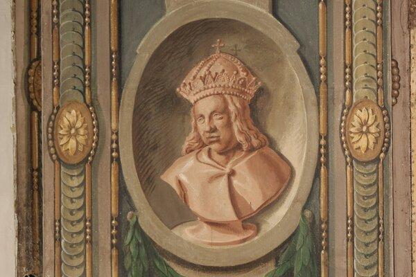 Maľba kráľa Otta vo Vihorlatskom múzeu.