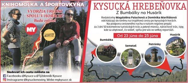 Na podporu turizmu na Kysuciach odchádzajú naše redaktorky na tri dni na kysucké hory.