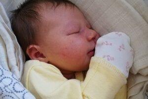 Diana Sokolová (3600 g, 50 cm) sa narodila 21. apríla Lucii a Miroslavovi z Prievidze.