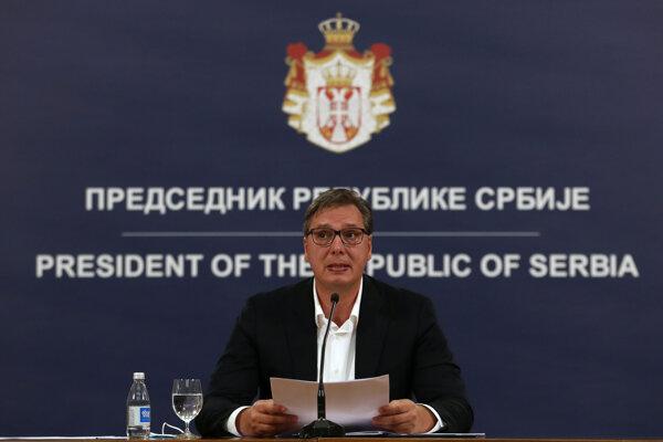 Srbský prezident Aleksandar Vučič.