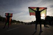 Demonštrácia za rovnoprávnosť Oromov v Minneapolise.
