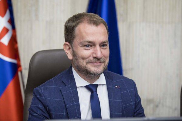 Predseda vlády SR Igor Matovič počas rokovania 28. schôdze vlády SR. Bratislava, 8. júl 2020.
