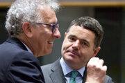 Nový šéf Euroskupiny Paschal Donohoe (vpravo).