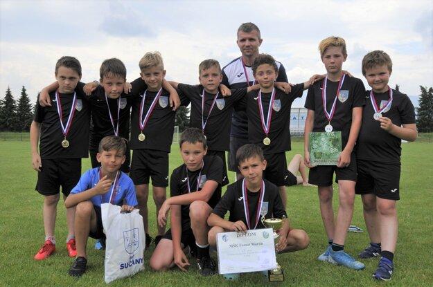 Fomat Martin U11, víťazný tím Memoriálu Silvestra Huja.