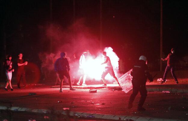 Protesty v Belehrade.