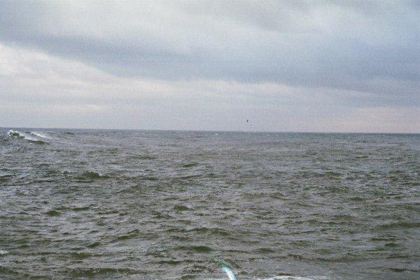 Pohľad na Atlantický oceán z portského pobrežia.