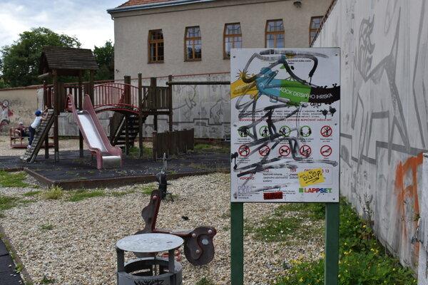 Detské ihrisko pri františkánoch v Prešove.