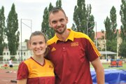 Stanka Škvarková s trénerom a manželom Michalom.