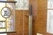 Caraffov meč, vystavený v historickej expozícii Krajského múzea v Prešove.