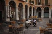 Turisti v Palma de Mallorca.