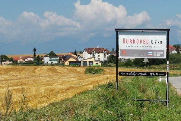 Smer Ďurkovec a Tatran od Spišských Tomášoviec.