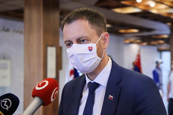 Podpredseda vlády a minister financií Eduard Heger (OĽaNO).