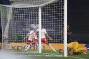 Momentka zo zápasu Lipsko - Atl. Madrid.