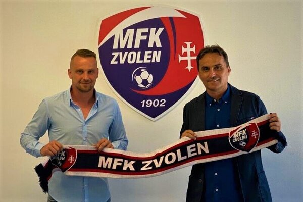Riaditeľ MFK Zvolen Jakub Rapčan (vľavo) a nový tréner Zvolena Nebojsa Subotic.
