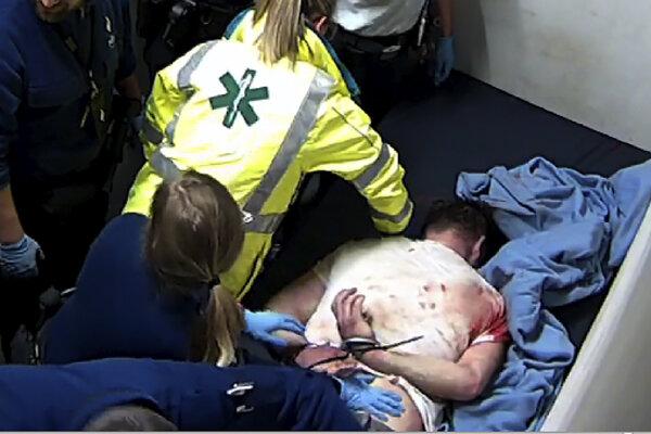 Zábery z videa, na ktorom vidno zásah belgickej polície proti Jozefovi Chovancovi.