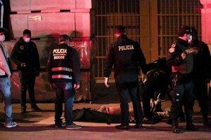 Zásah polície v Peru.