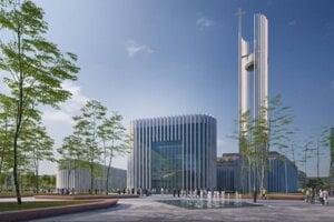 Vizualizácia projektu, ktorý má vzniknúť na Kapitulskom dvore.