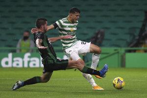 Zápas Ligy majstrov Celtic Glasgow - Ferencváros Budapešť.