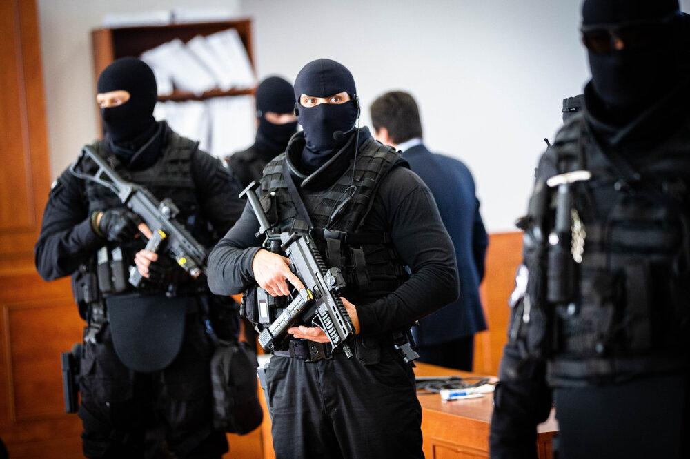 22. január 2020. Hlavné pojednávanie vo veci vraždy novinára Jána Kuciaka a jeho snúbenice Martiny Kušnírovej na Špecializovanom trestnom súde v Pezinku.