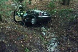 Auto vletelo do lesa, vodič sa zranil.