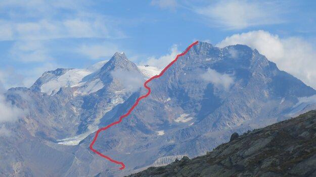 Približná trasa na vrchol.