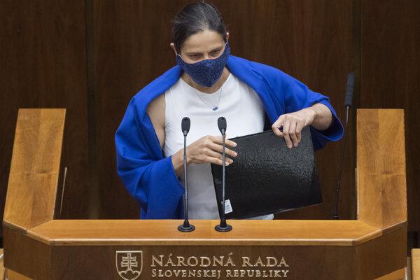 Ministerka spravodlivosti SR Mária Kolíková (Za ľudí).