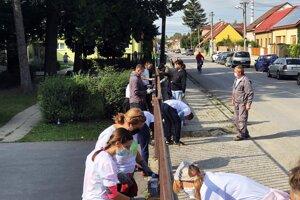 Dobrovoľníci v rámci podujatia Naše mesto v Trnave.