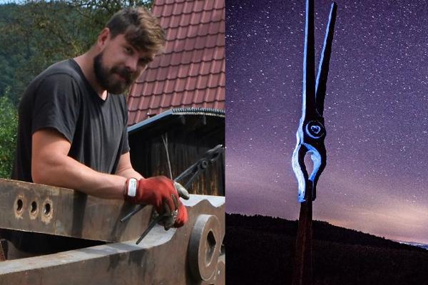 Umelecký kováč Martin Jackuliak je autorom viacerých originálnych diel.